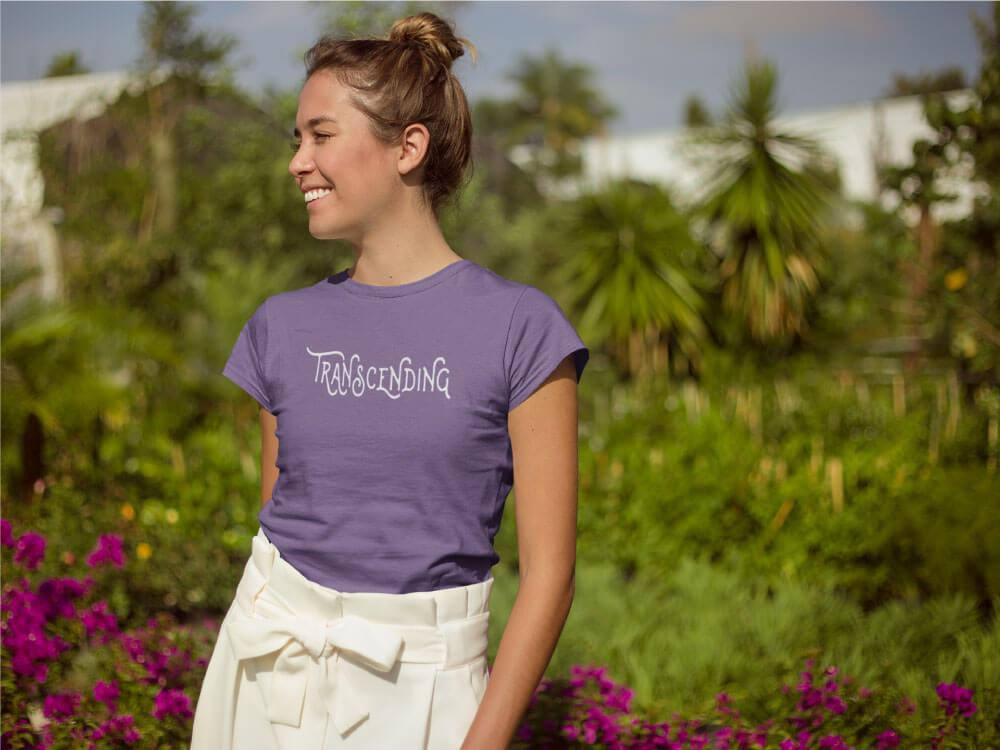 AwakeNAware.com-Awake-&-Aware-Girl-Smiling-in-Sun-Wearing-Transcending-Goddess-TShirt