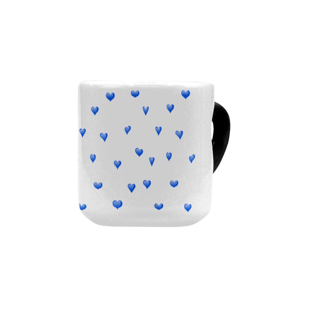 Shop AwakeNAware.com Awake & Aware Blue Heart Magic Mug Front Angle