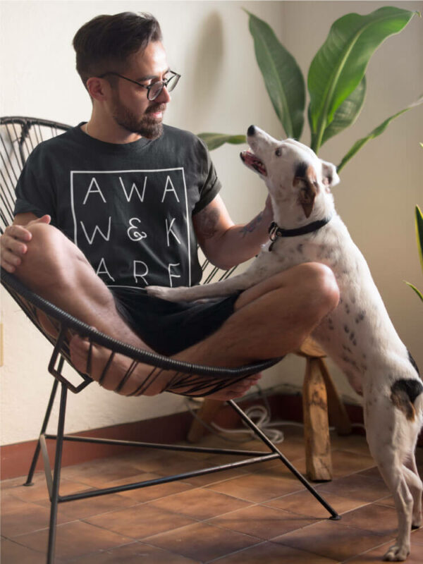 AwakeNAware.com-Awake-&-Aware-Man-Sitting-in-Acapulco-Chair-Wering-Magic-Square-TShirt