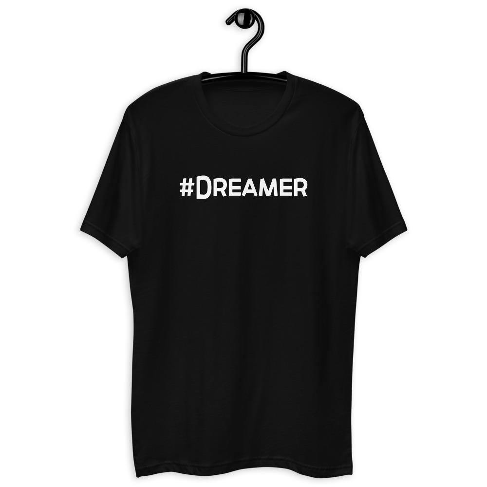 Awakenaware.com-AwakeAware-Hashtag-Dreamer-Tee_mockup_Front_On-Hanger_Black