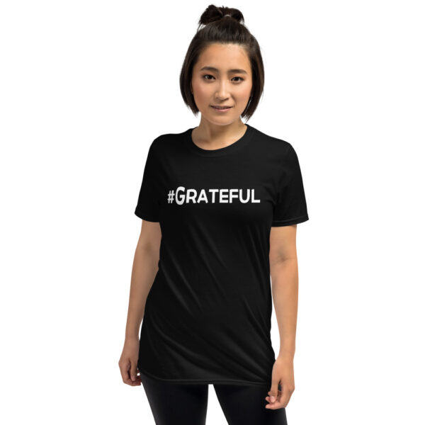 Awakenaware.com-AwakeAware-Hashtag-Grateful-Tee_mockup_Front_Female